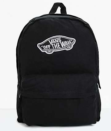 Vans Realm Black Canvas Backpack