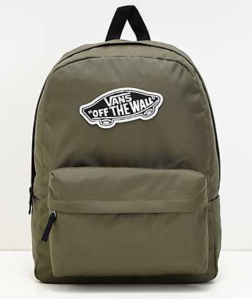 Vans Realm Grape Leaf mochila verde
