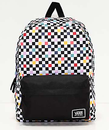 Vans Realm Paty Checkerboard Backpack