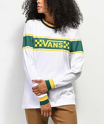 Vans Reband 2.0 camiseta de manga larga verde y amarilla