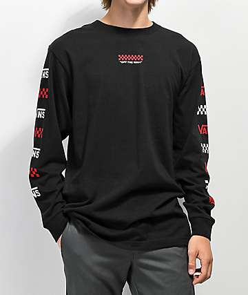 Vans Repeat Black Long Sleeve T-Shirt