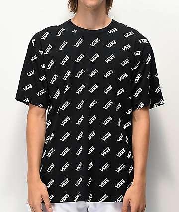 Vans Retro All Over Black T-Shirt