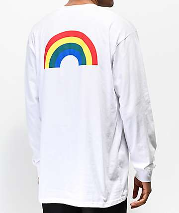 Vans Retro Rainbow White Long Sleeve T-Shirt