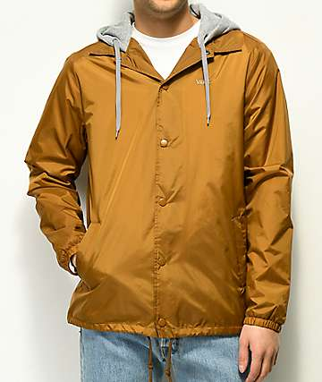 Vans Riley Tan Hooded Coaches Jacket