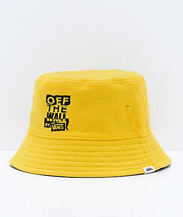 Vans Ripped OTW Black & Lemon Reversible Bucket Hat