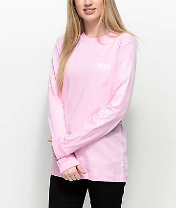 Vans Rose Pink Long Sleeve T-Shirt