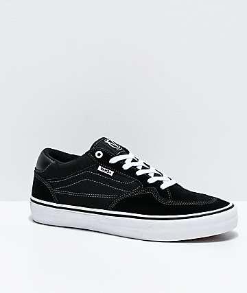 Vans Rowan Pro Black & White Skate Shoes