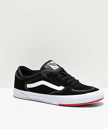 Vans Rowley Classic Black, White & Red Skate Shoes