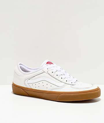 Vans Rowley Classic True White & Gum Skate Shoes