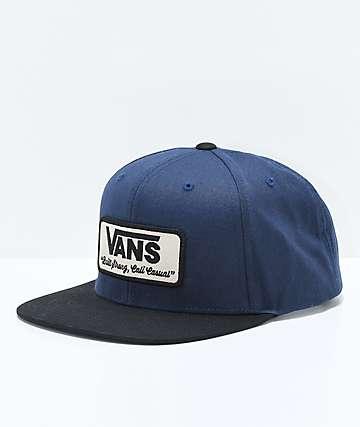 Vans Rowley Dress gorra snapback en azul y negro