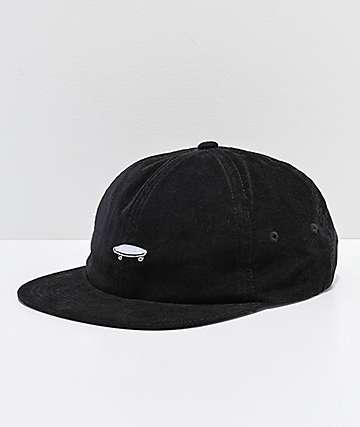 Vans Salton II Jockey Black Corduroy Strapback Hat