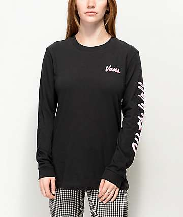 Vans Scripter Black Long Sleeve T-Shirt