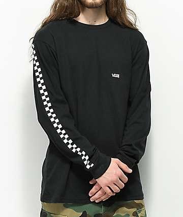 Vans Side Check Black Long Sleeve T-Shirt