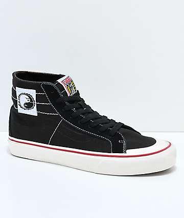 Vans Sk8-Hi 138 Decon SF Dane zapatos de skate en negro, rojo y blanco
