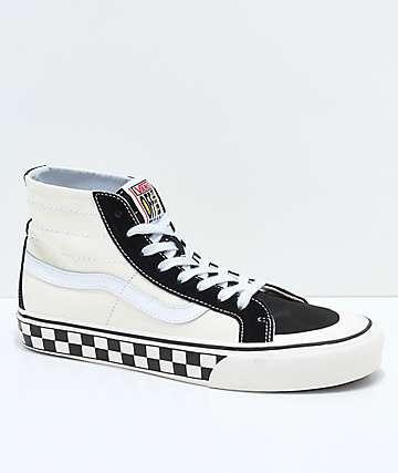 Vans Sk8-Hi 138 Decon SF zapatos de skate a cuadros en negro y blanco