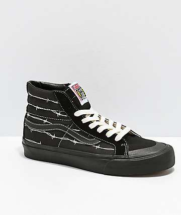 Vans Sk8-Hi 138 SF Barded Wire Black Skate Shoes