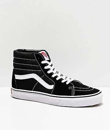 96e0a4197ce5 Vans Sk8-Hi Black   White Skate Shoes