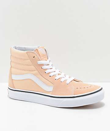Vans Sk8-Hi Bleached Apricot & White Shoes