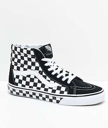 vans black and white checkerboard shoes