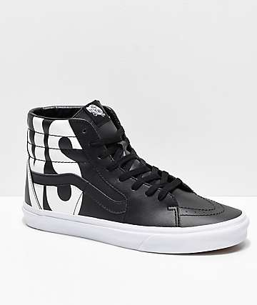 7790702738 Vans Sk8-Hi Classic Tumble Black Shoes