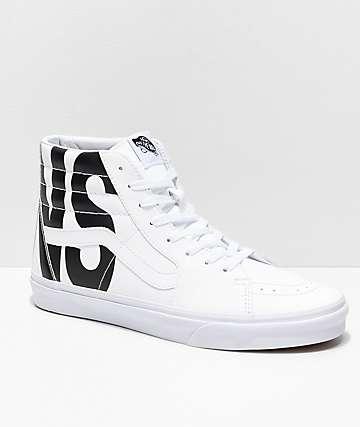 e63b934f43b42d Vans Sk8-Hi Classic Tumble White Shoes