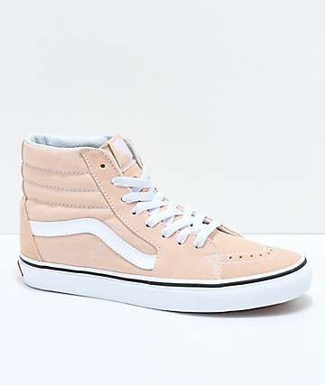 Vans Sk8-Hi Frappe & True White Suede Shoes