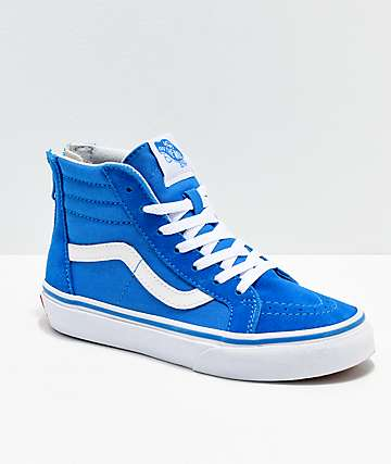 Vans Sk8-Hi Indigo & White Shoes