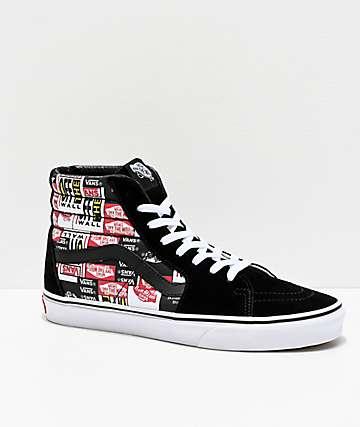 Vans Sk8-Hi Label Mix Black & White Skate Shoes