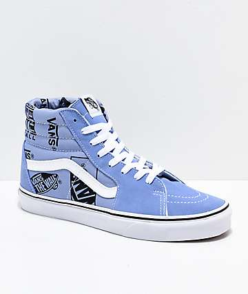 9cf08133cb0f Vans Sk8-Hi Logo Mix Lavender   Black Skate Shoes