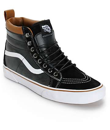 Vans Sk8-Hi MTE Black & True White Skate Shoes