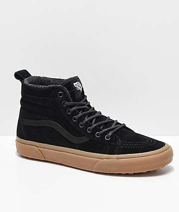 Vans Sk8-Hi MTE Black & Gum Shoes