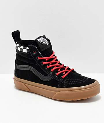 Vans Sk8-Hi MTE Checkerboard & Black Shoes