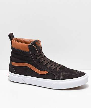 409aff0ade062d Vans Sk8-Hi MTE Chocolate   White Shoes