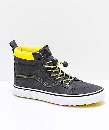 Vans Sk8-Hi MTE Grey & Yellow Skate Shoes