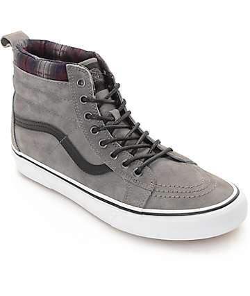 ee33c0320d7b35 Grey Red High Top Black Green Vans Shoes