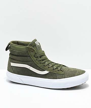 Vans Sk8-Hi MTE zapatos en verde militar