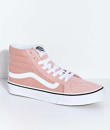 3c806b360b Vans Sk8-Hi Mahogany Rose   White Skate Shoes