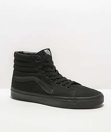 big sale 006ab ad63a Vans Sk8-Hi Mono Black Skate Shoes