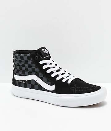 8d5dace04aa091 Vans Sk8-Hi Pro Reflect Black Skate Shoes