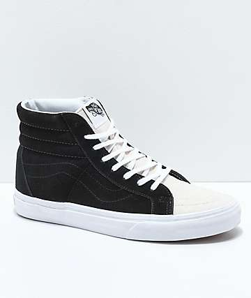 Vans Sk8-Hi Reissue Two Toned Birch & Black Skate Shoes
