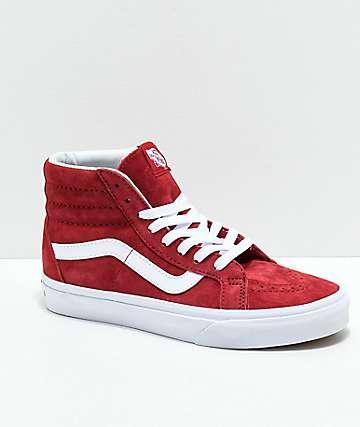 Vans Sk8-Hi Scooter zapatos de skate en rojos