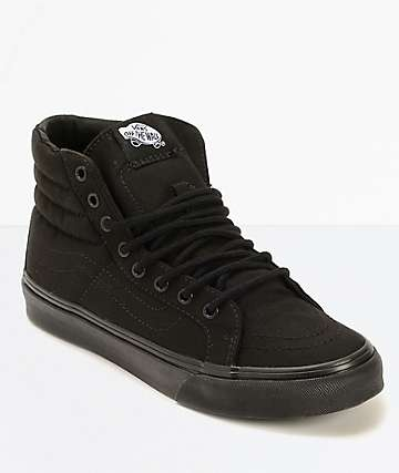 e4512fac7adf Vans Sk8-Hi Slim Black Shoes