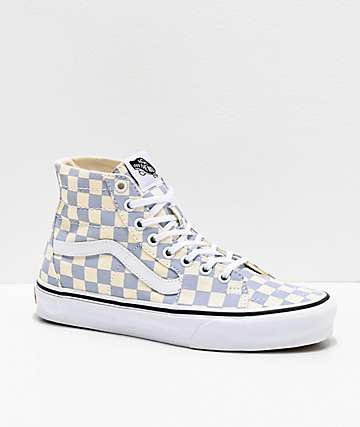 Vans Sk8-Hi Tapered Zen Blue & White Skate Shoes