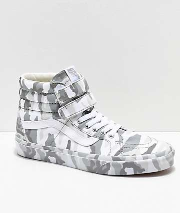 Vans Sk8-Hi Tumble Reissue V Snow Camo Skate Shoes