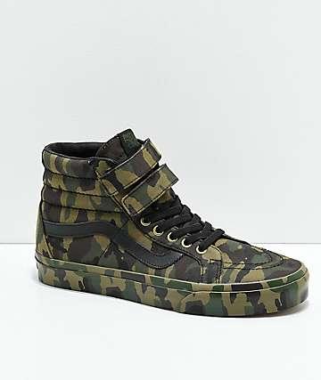 Vans Sk8-Hi Tumble Reissue V zapatos de skate de camuflaje verde