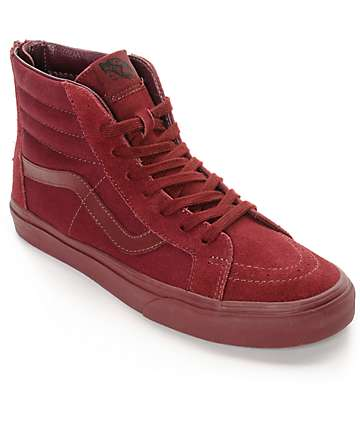 Vans Sk8-Hi Zip Port Royale Mono Skate Shoes