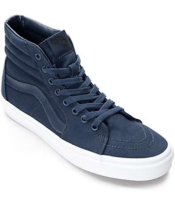 Vans Sk8-Hi zapatos de skate en azul y blanco