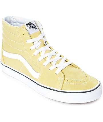 Vans Sk8-Hi zapatos de skate en blanco y color amarillo