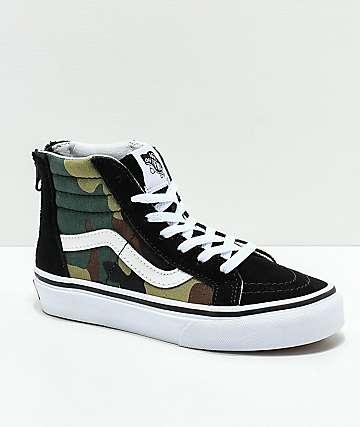 Vans Sk8-Hi zapatos negros y de camuflaje