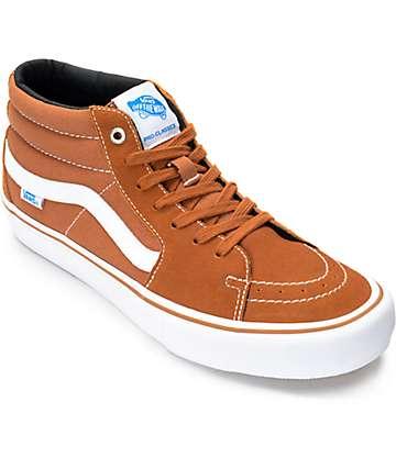 Vans Sk8-Mid Pro zapatos de skate en marrón